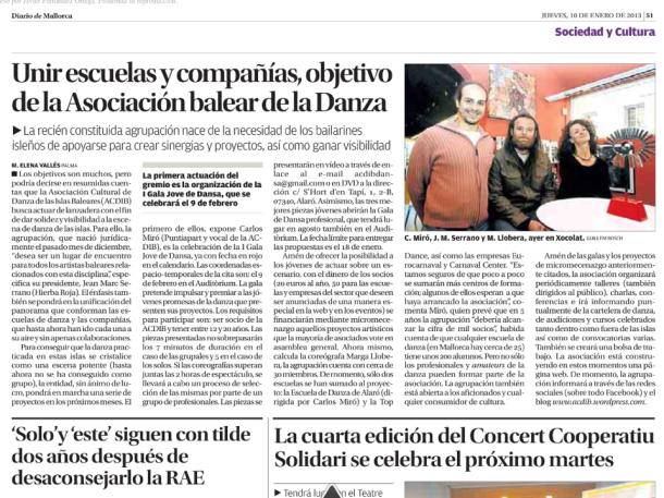 10-1-2013 Diario de Mallorca